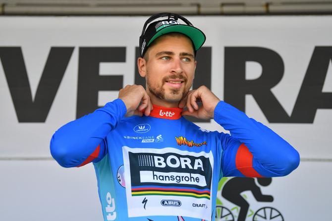 Peter Sagan (Bora-Hansgrohe) leads the BinckBank Tour