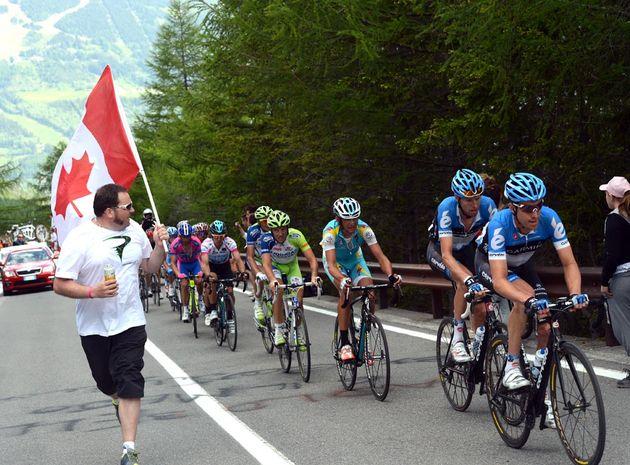 Canadian fan, Giro d'Italia 2012, stage 20