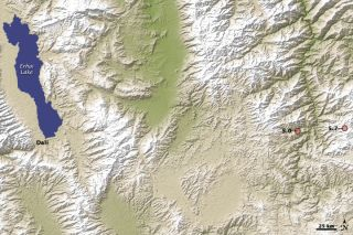 Map of where a 5.7 magnitude earthquake struck in China's Yunnan Province in 2009