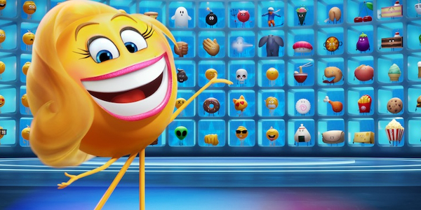 The Emoji Movie Smiler showing off the board