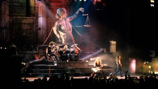 Metallica onstage during the Damaged Justice tour in 1989
