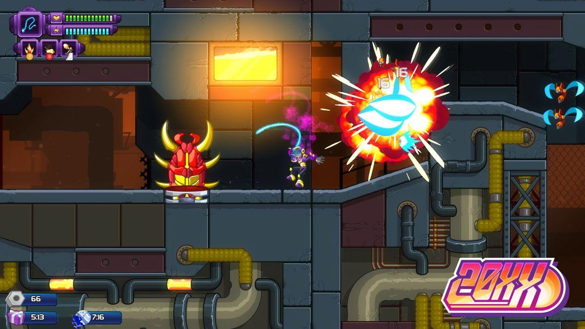 Roguelike platformer 20XX adds third playable character Hawk