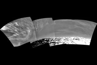 Martian Clouds Over Endurance Crater