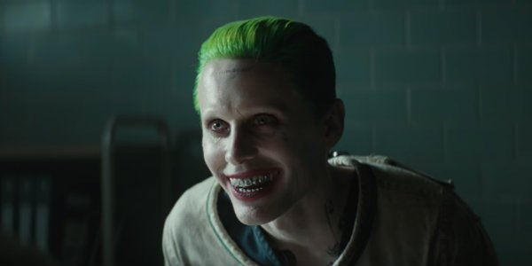 Jared Leto playing the Joker in Suicide Squad