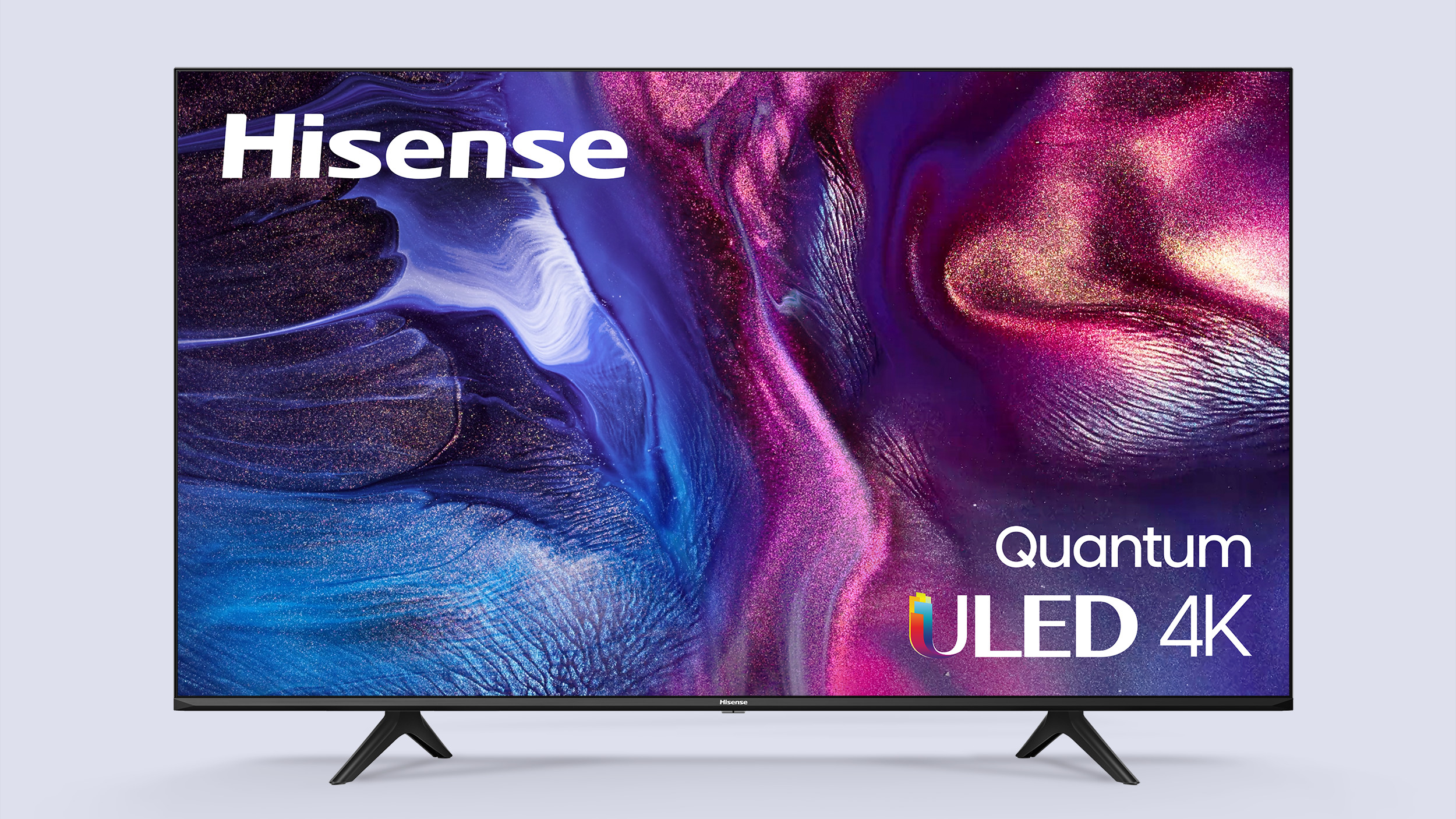 A frontal view of the Hisense U6G ULED TV