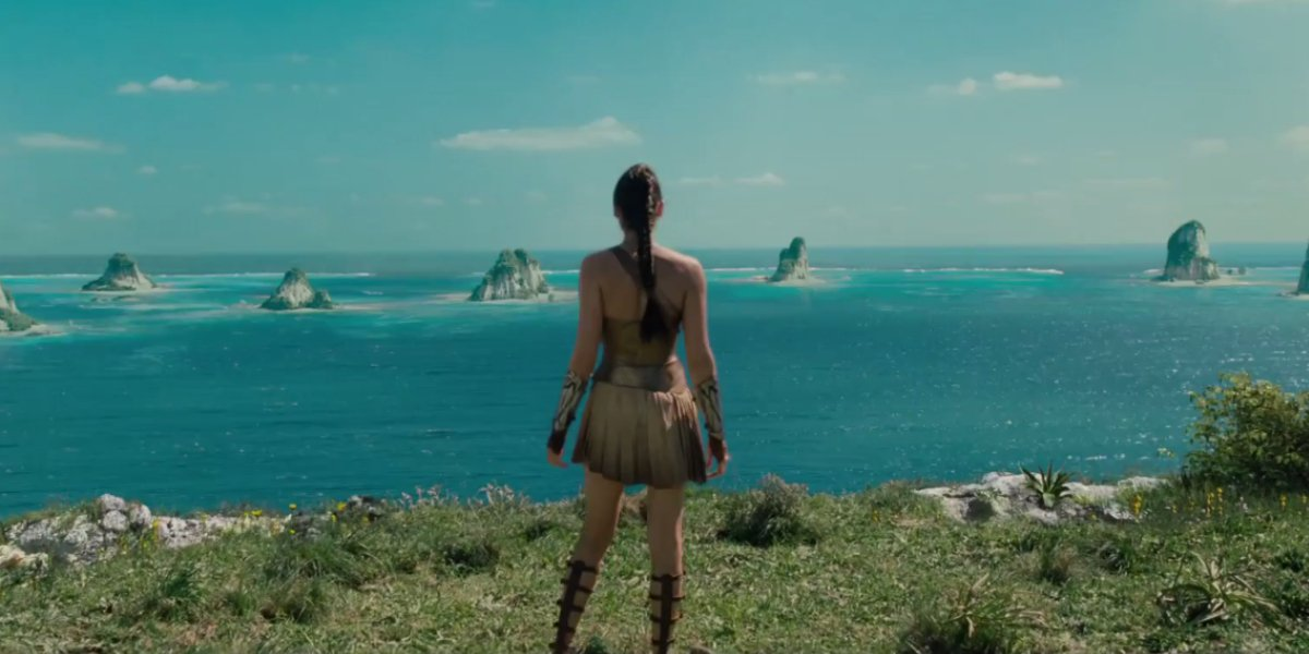 Diana looks out over Themyscira in Wonder Woman