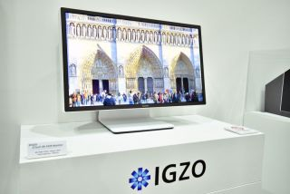 Sharp's prototype 27-inch 8K 120Hz IGZO monitor with HDR induces