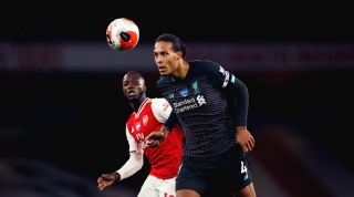 Nicolas Pepe and Virgil van Dijk