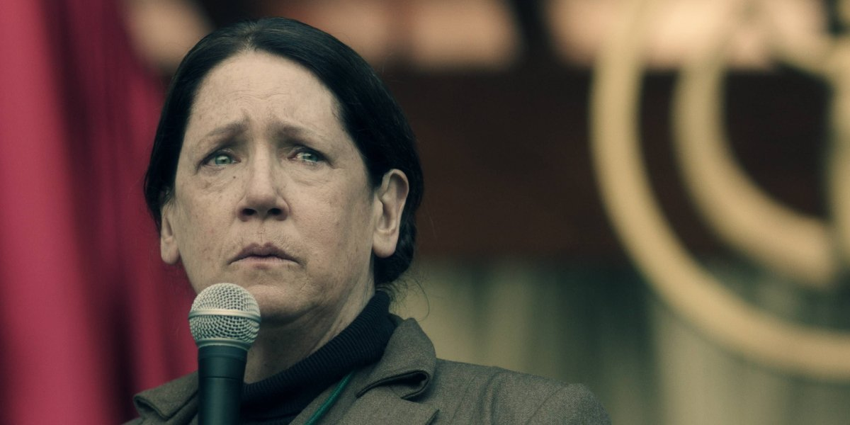 Ann Dowd as Aunt Lydia Clements on The Handmaid's Tale
