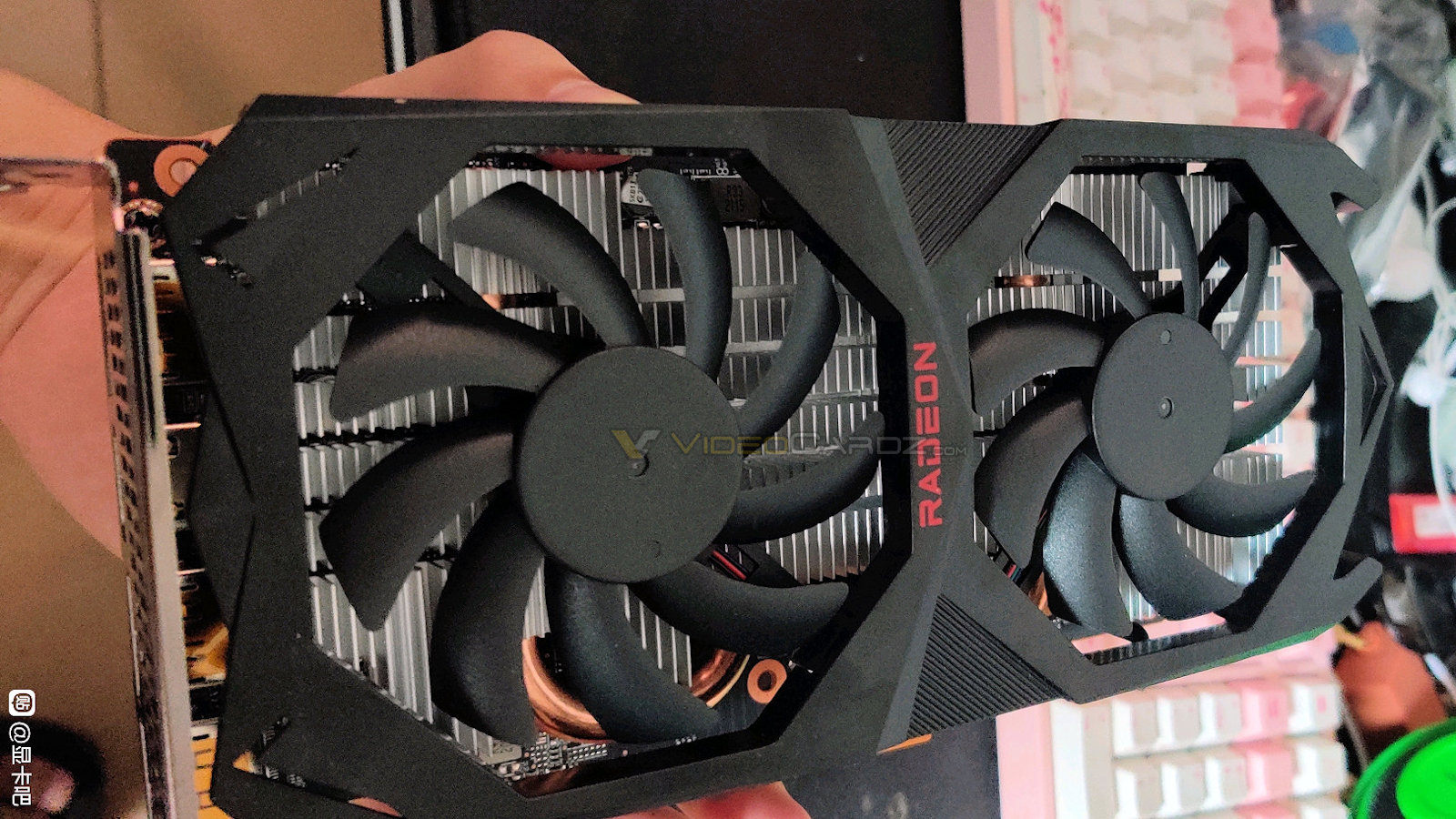 A graphics card rumored to be the upcoming AMD Radeon RX 6600XT