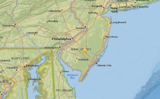 New Jersey Sonic Booms Map