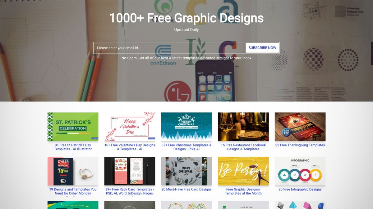 Where to find free graphic design templates