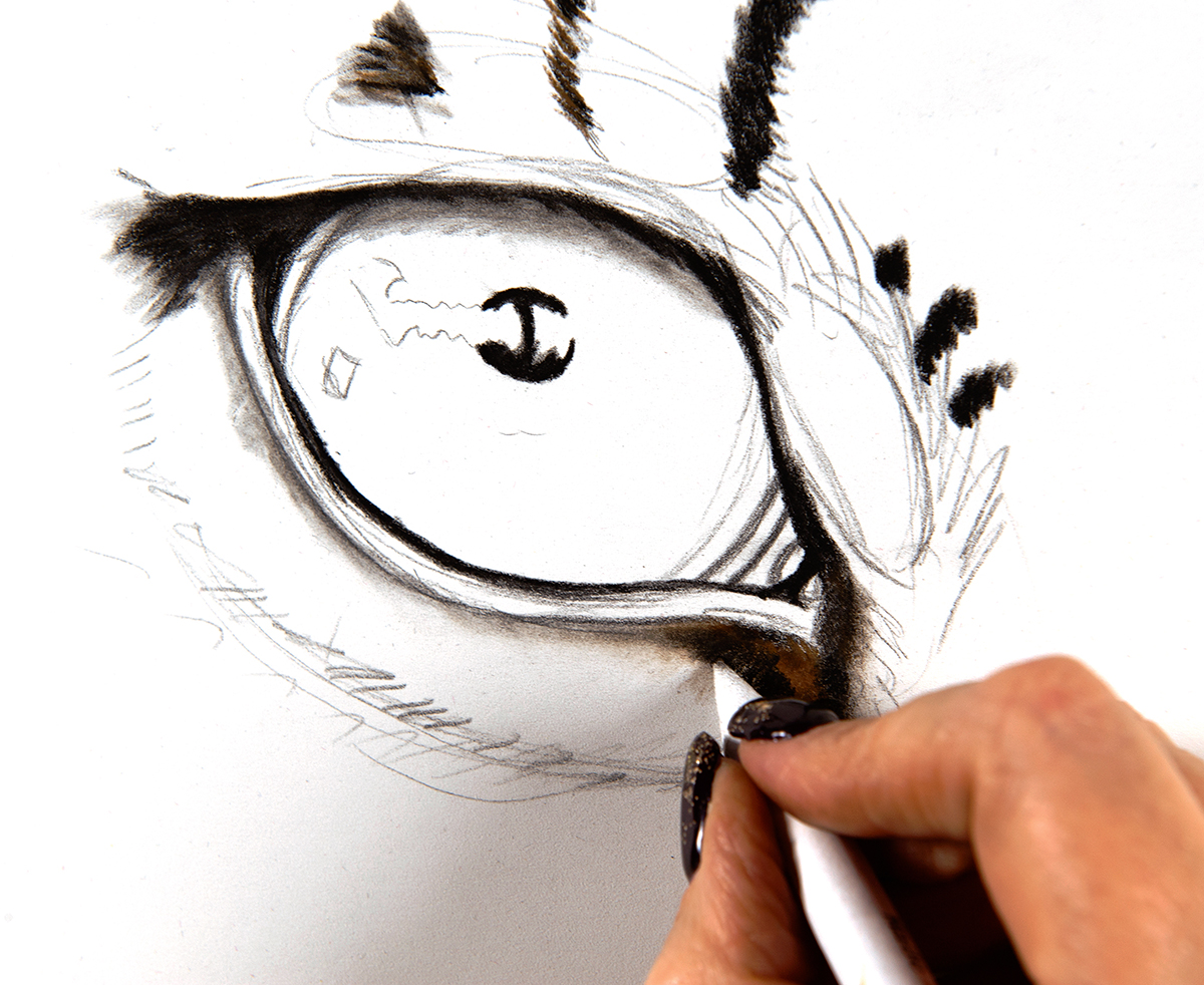 eye shaded in