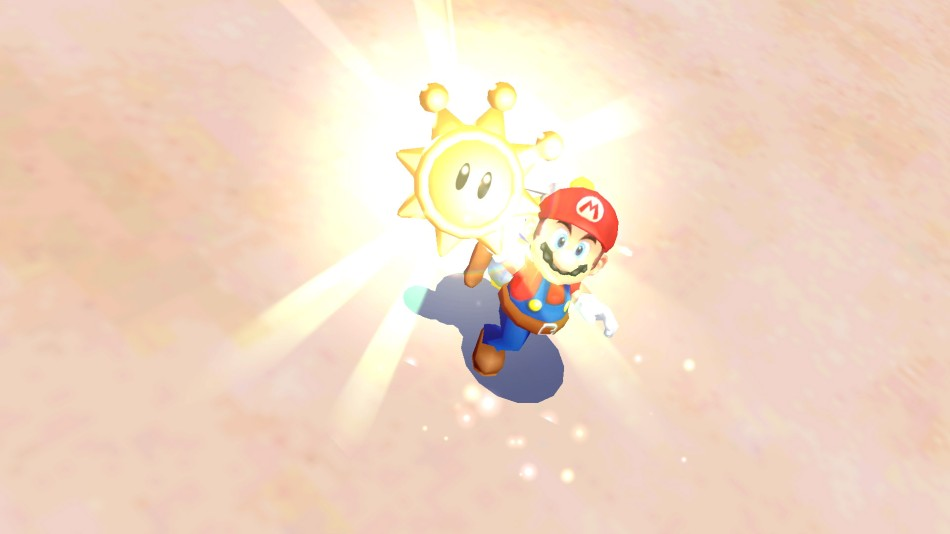 Super Mario Sunshine (2002) is one of three 3D games included