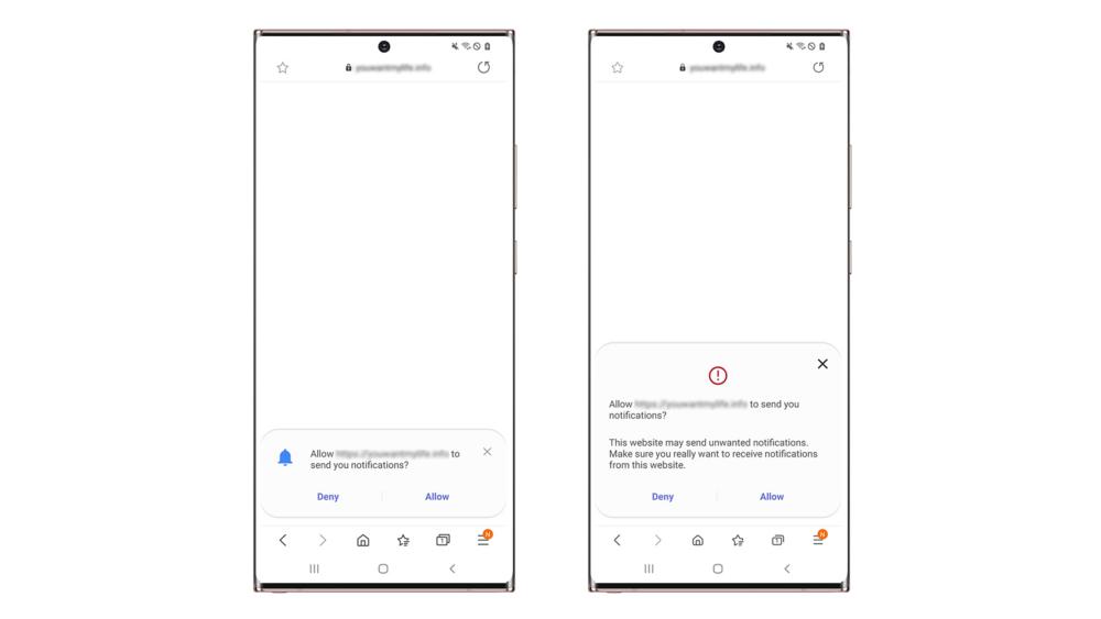 Samsung Browser Notification