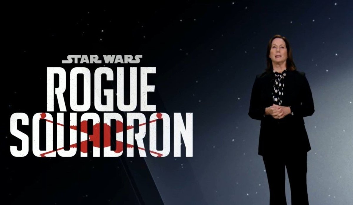 Star Wars: Rogue Squadron Kathleen Kennedy making an announcement