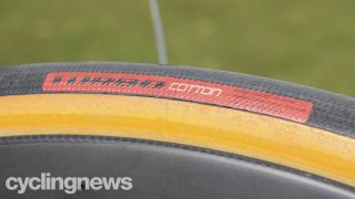 Close up of a Specialized Turbo Cotton clincher tyre