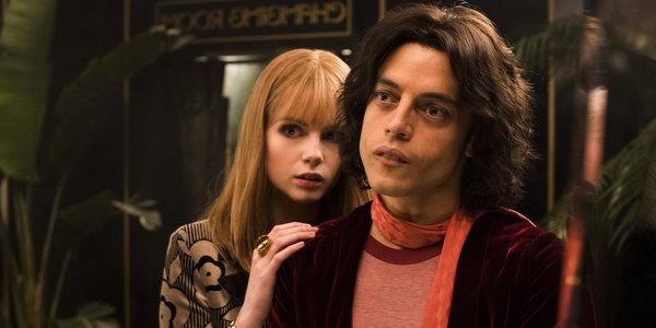 Lucy Boynton and Rami Malek in Bohemian Rhapsody