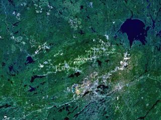 sudbury basin from space