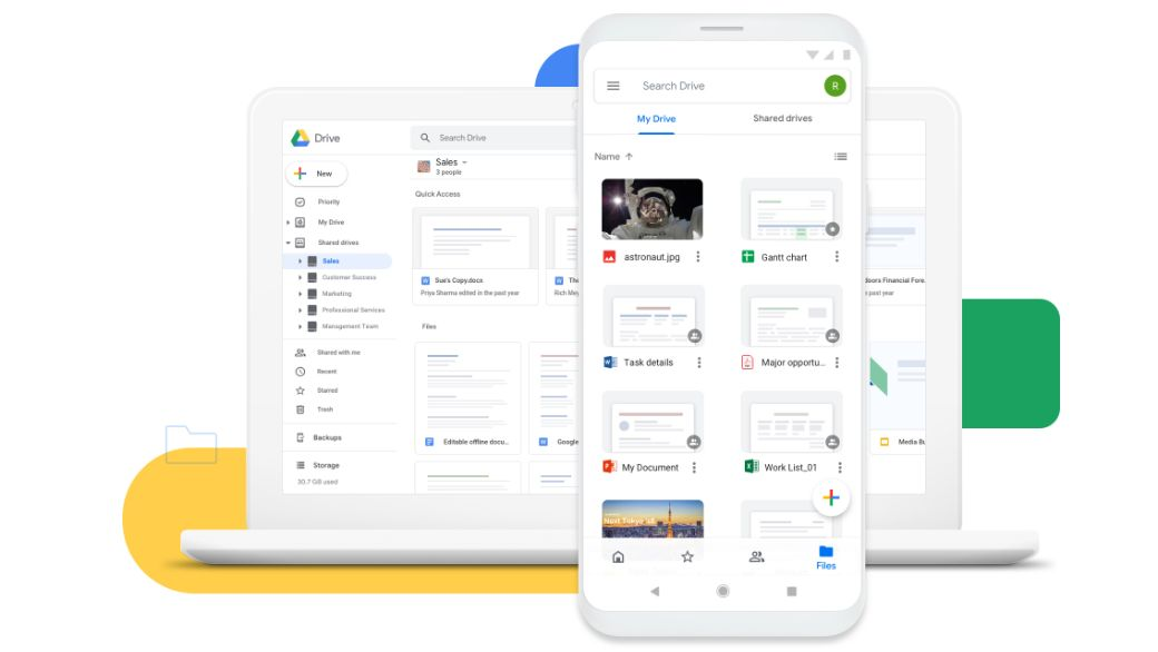 Google Drive allows easy and secure access to all of your content. Store, share, and collaborate on files and folders from any mobile device, tablet, or computer.