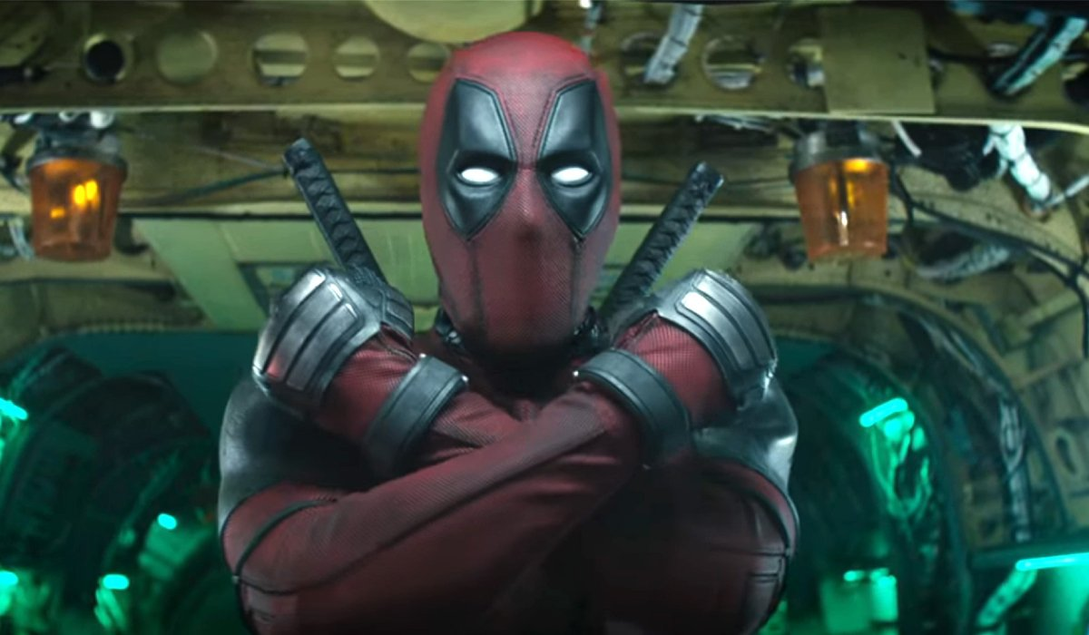 Deadpool 2 Deadpool ready to jump out of a plane