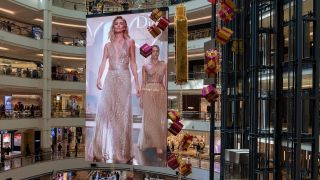 The Suria KLCC Shoping Mall in Kuala Lumur, Malaysia recently installed the world's largest double-sided LED display from NanoLumens.