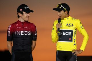 Geraint Thomas and Egan Bernal (Team Ineos)