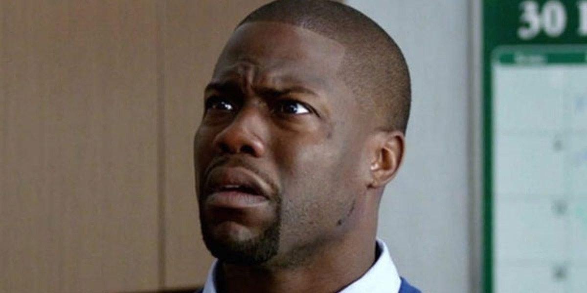 Teddy Walker (Kevin Hart) looks incredulous as he stands in a classroom in 'Night School'