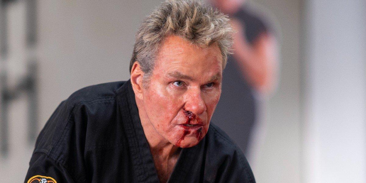 John Kreese after he got beat up Cobra Kai
