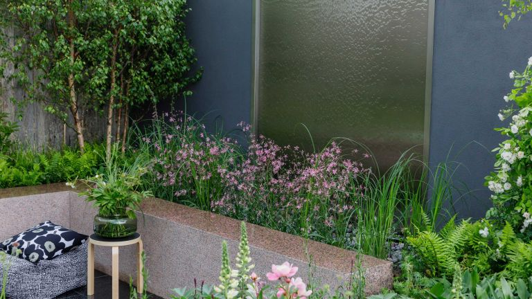 water garden wall ideas at The roots in Finland kyro garden at RHS Chelsea Flower Show 2019