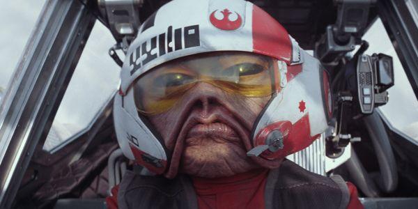 Nien Nunb in Star Wars: The Force Awakens