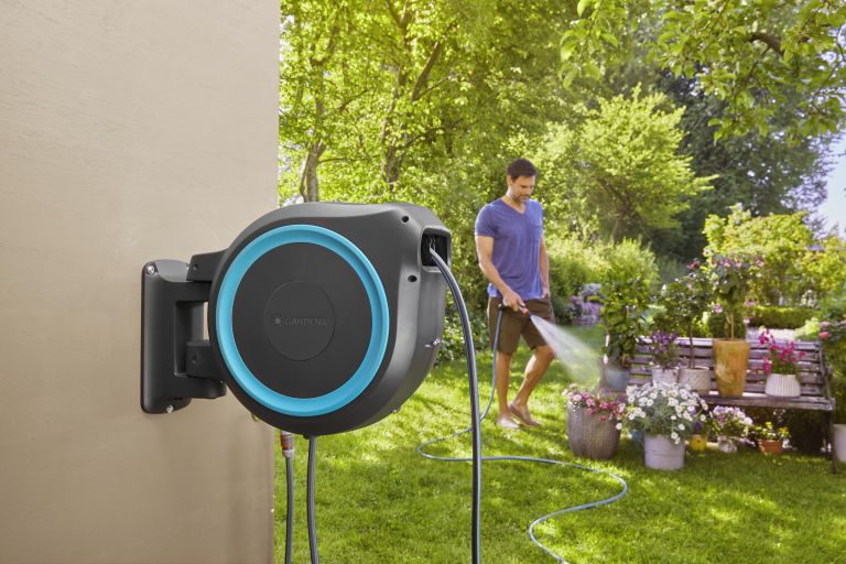 Gardena wall mounted hose box is one of the best garden hose options