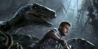 Chris Pratt on Jurassic World poster