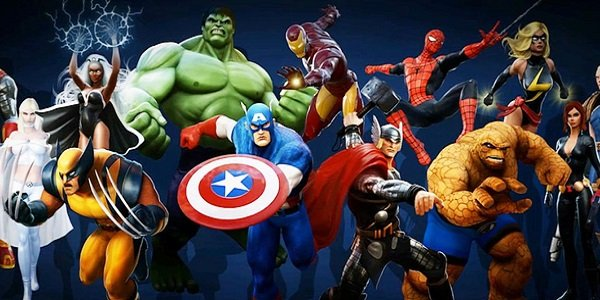 An assortment of Marvel heroes.