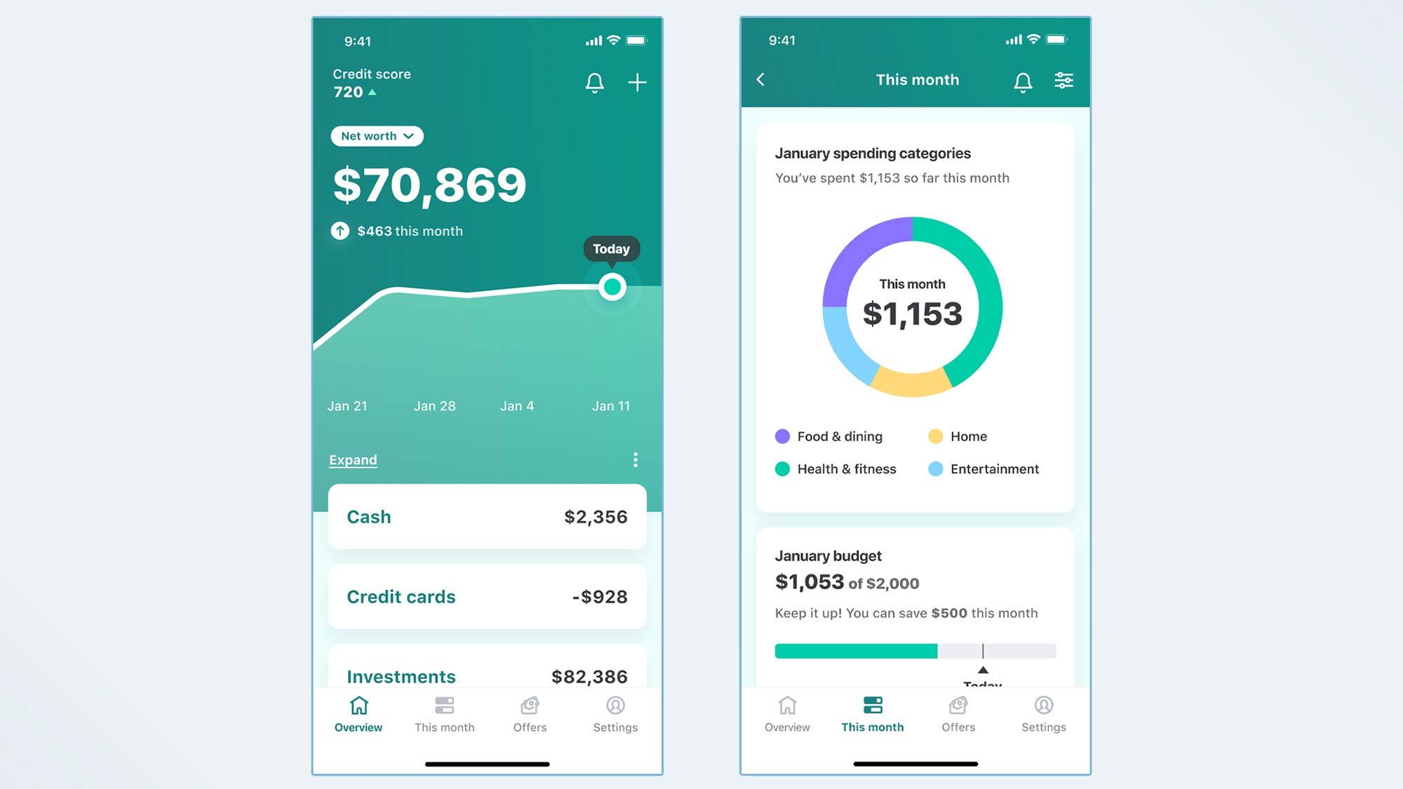 Application mobile Mint