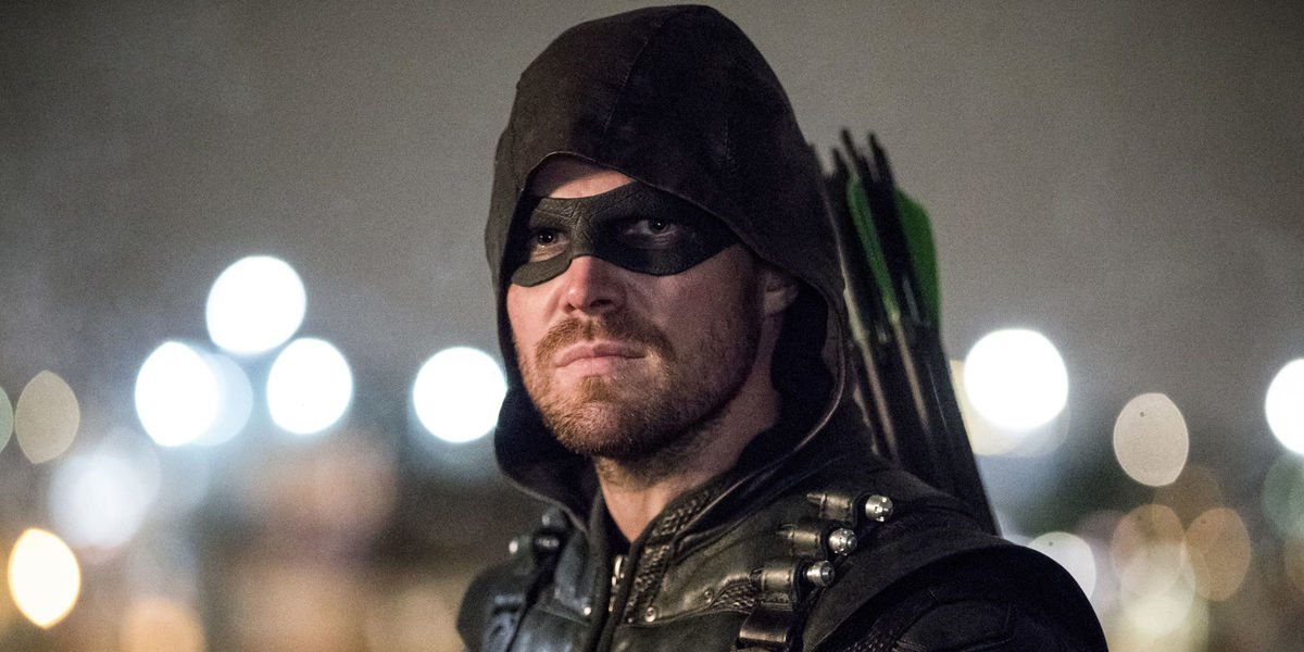 Stephen Amell as Oliver Queen alter ego Green Arrow in Arrow