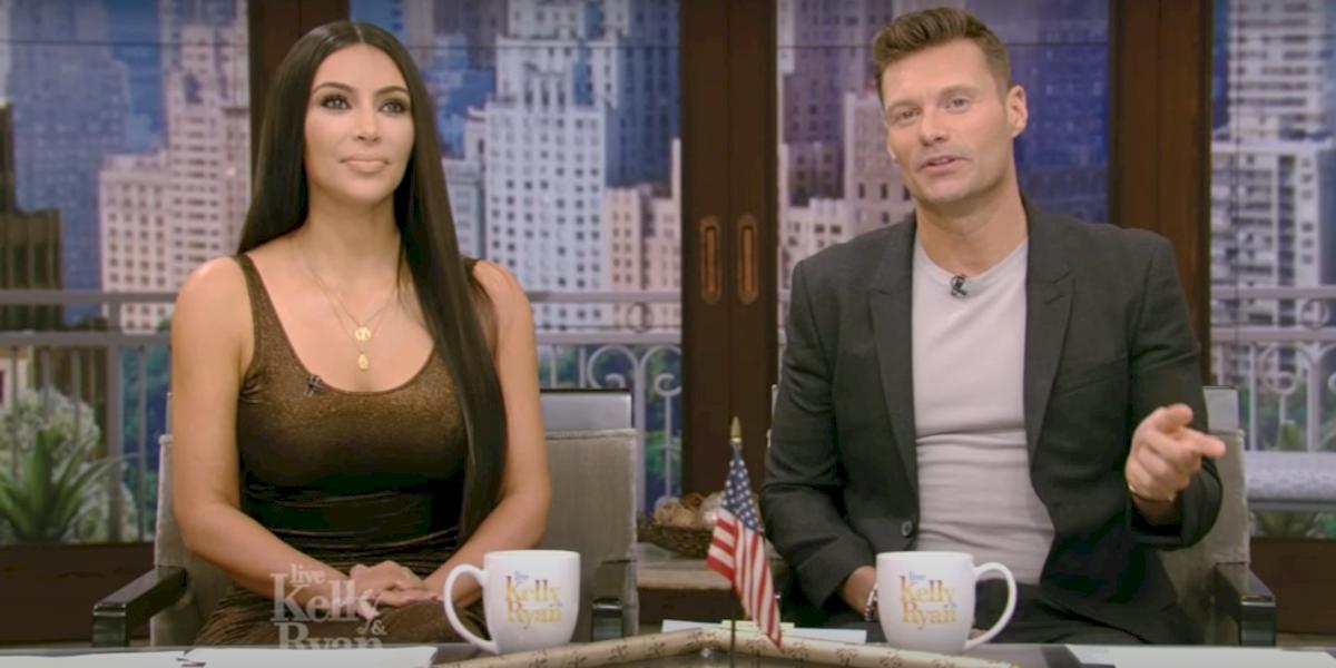 Live with Kelly and Ryan Kim Kardashian West Ryan Seacrest