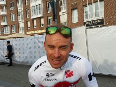 Alexander Kristoff in the mixed zone