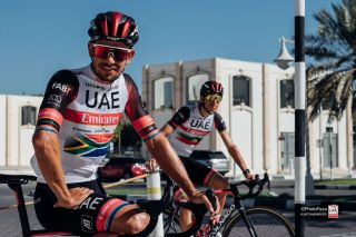 Ryan Gibbons at UAE Team Emirates training camp in Dubai, January 2021