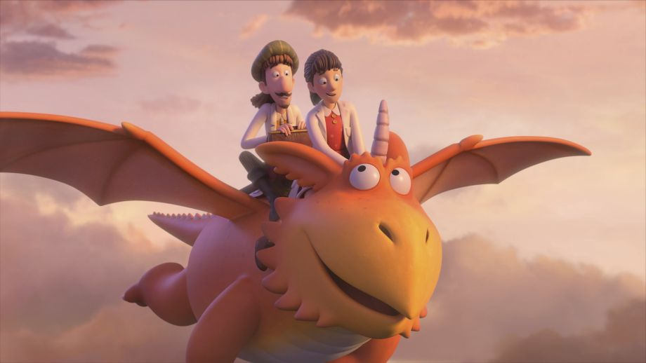 Zog the dragon teams up with Princess Pearl and Sir Gadabout