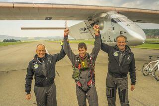 Solar impulse test pilot