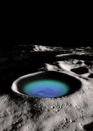 moon shackleton crater center