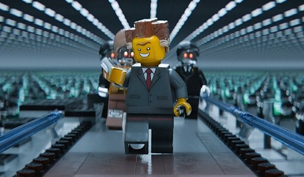 The Lego Movie Lord Business overseeing his rows of minions