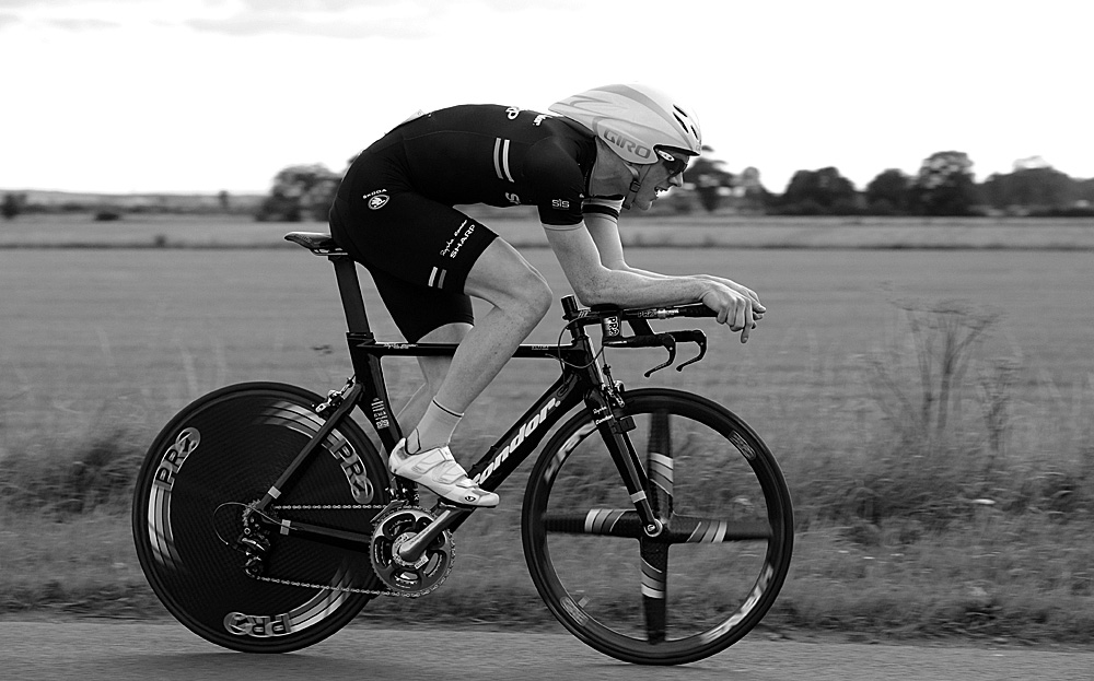 Ed Clancy in action, Rossington Evening 10-mile time trial, August 2011