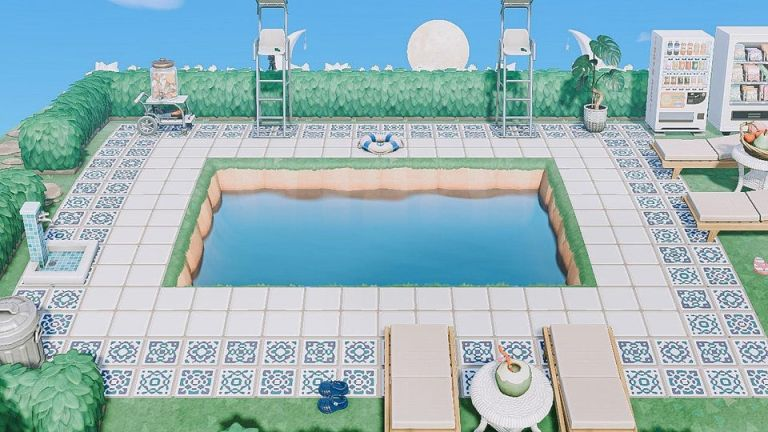 Animal Crossing outdoor pool