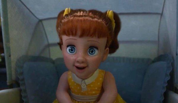 Toy Story 4 Gabby Gabby talks in her stroller