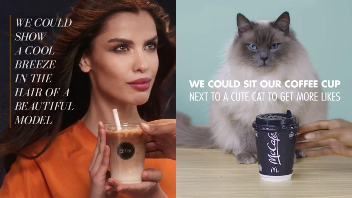 Hilarious McDonald's ads mock the most common coffee clichés