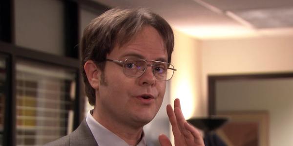 Dwight looking toward the camera