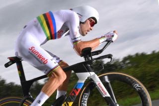 ESPELETTE, FRANCE - JULY 28: Tom Dumoulin of The Netherlands and Team Sunweb / during the 105th Tour de France 2018, Stage 20 a 31km Individual Time Trial stage from Saint-Pee-sur-Nivelle to Espelette 75m / ITT / TDF / on July 28, 2018 in Espelette, France. (Photo by Tim de Waele/Getty Images)