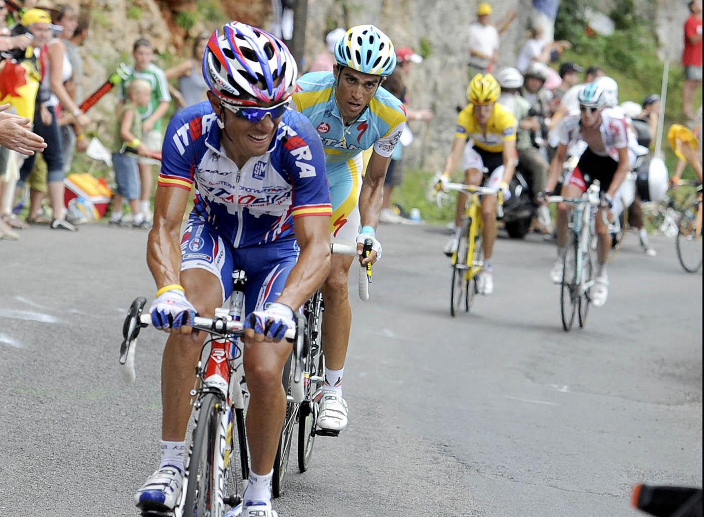 Joaquin Rodriguez attacks, Tour de France 2010, stage 12